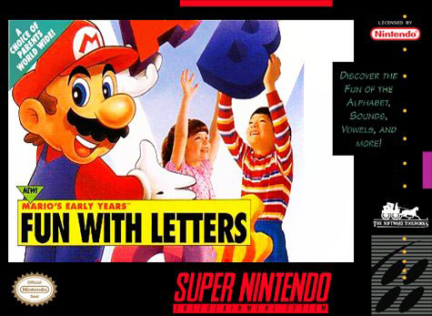 Carátula del juego Mario's Early Years Fun with Letters (Snes)