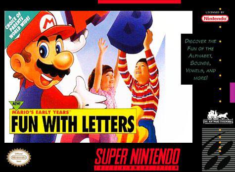 Portada de la descarga de Mario's Early Years: Fun with Letters