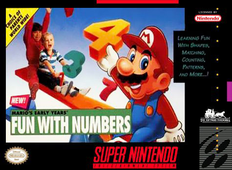 Carátula del juego Mario's Early Years Fun With Numbers (Snes)