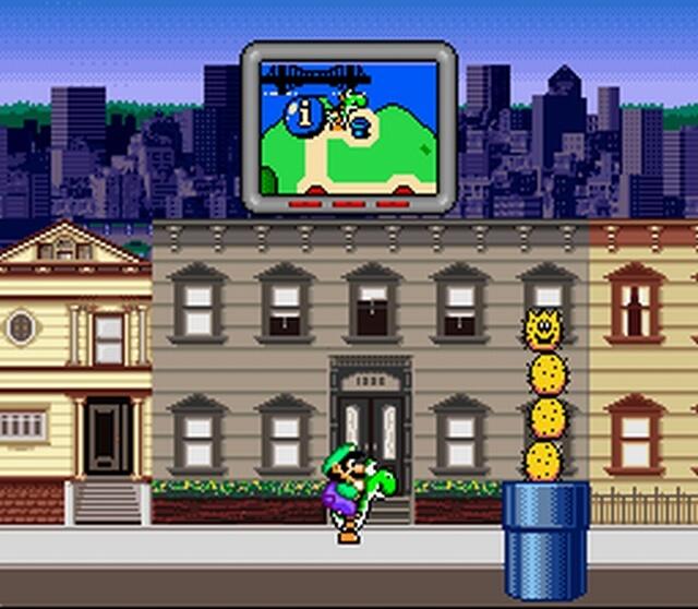 Pantallazo del juego online Mario is Missing (Snes)