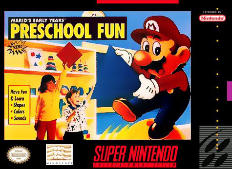 Carátula del juego Mario's Early Years - Preschool Fun (Snes)