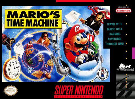 Carátula del juego Mario's Time Machine (Snes)
