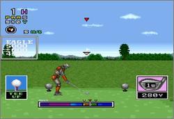 Pantallazo del juego online Mecarobot Golf (Snes)