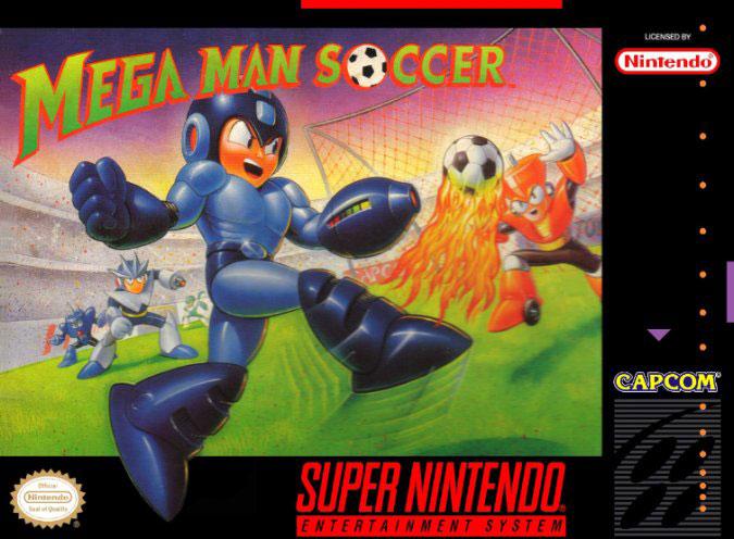 Portada de la descarga de Mega Man Soccer