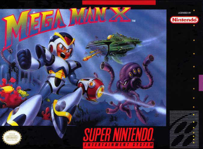 Carátula del juego Mega Man X (Snes)