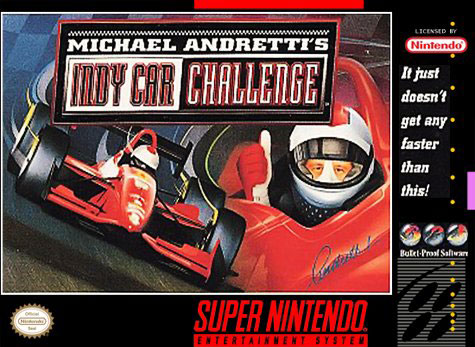 Carátula del juego Michael Andretti's Indy Car Challenge (Snes)