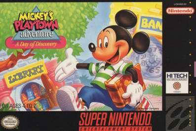 Carátula del juego Mickey's Playtown Adventure - A Day of Discovery (Snes)