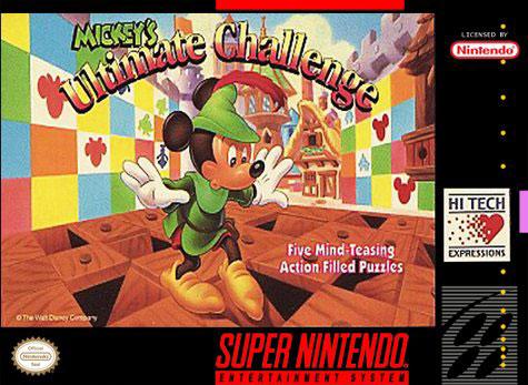 Carátula del juego Mickey's Ultimate Challenge (Snes)