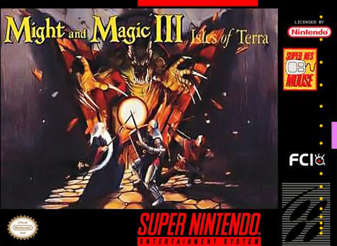Carátula del juego Might and Magic III - Isles of Terra (Snes)
