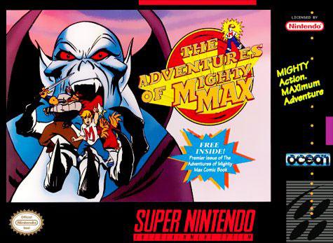 Carátula del juego Mighty Max (Snes)
