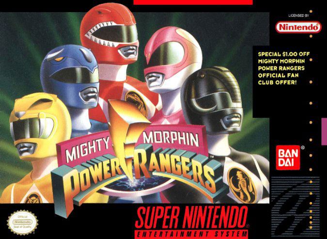 Carátula del juego Mighty Morphin Power Rangers (Snes)