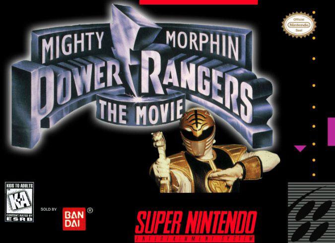 Carátula del juego Mighty Morphin Power Rangers - The Movie (Snes)