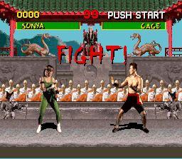 Pantallazo del juego online Mortal Kombat (Snes)
