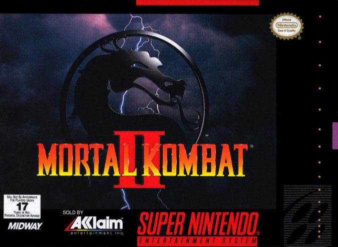 Carátula del juego Mortal Kombat II (Snes)