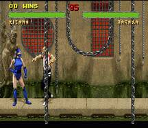 Pantallazo del juego online Mortal Kombat II (Snes)