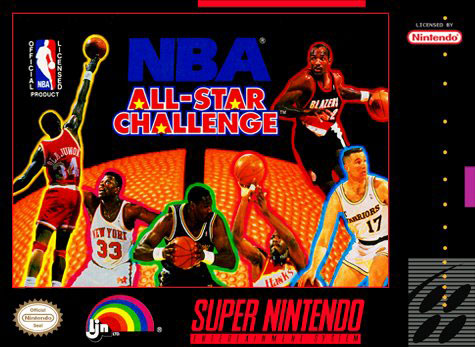 Carátula del juego NBA All-Star Challenge (Snes)