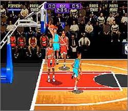 Pantallazo del juego online NBA HangTime (Snes)