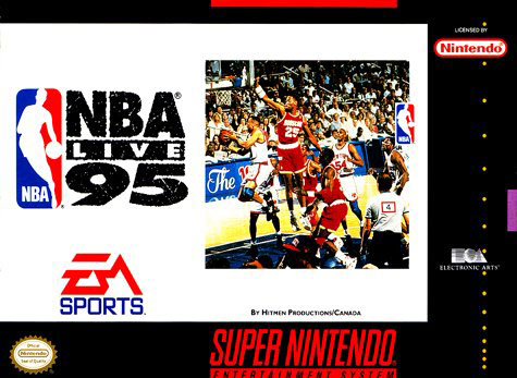 Carátula del juego NBA Live 95 (Snes)