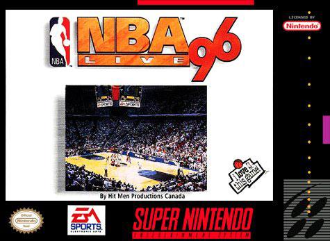 Carátula del juego NBA Live 96 (Snes)