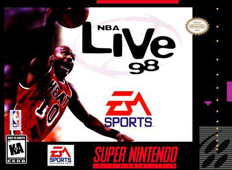Carátula del juego NBA Live 98 (Snes)