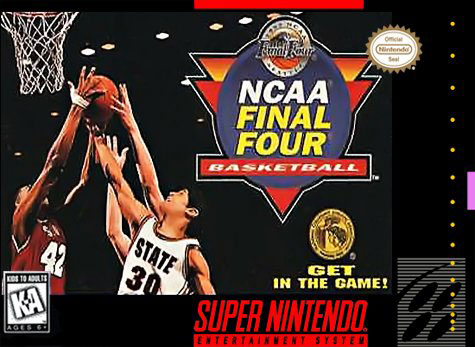 Carátula del juego NCAA Final Four Basketball (Snes)