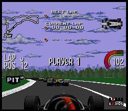 Pantallazo del juego online Newman Haas IndyCar - Featuring Nigel Mansell (Snes)