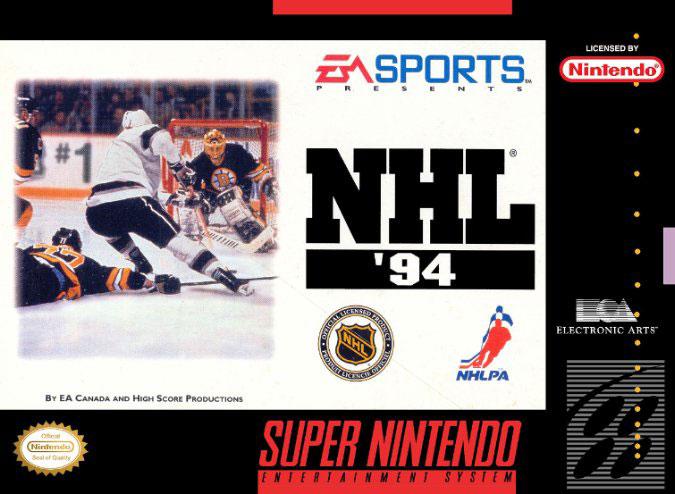 Carátula del juego NHL '94 (Snes)