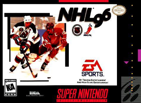 Carátula del juego NHL 96 (Snes)