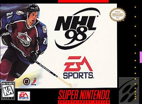 Carátula del juego NHL 98 (Snes)