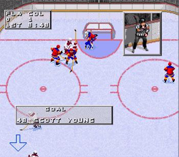 Pantallazo del juego online NHL 98 (Snes)