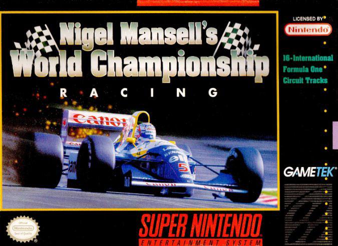 Carátula del juego Nigel Mansell World Championship Racing (Snes)