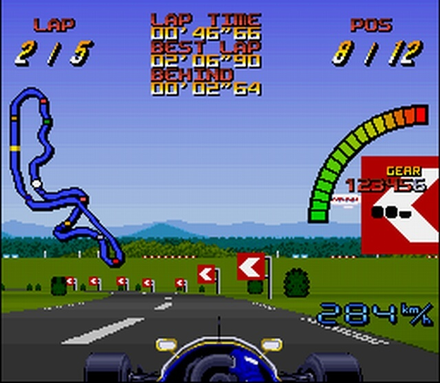 Pantallazo del juego online Nigel Mansell World Championship Racing (Snes)