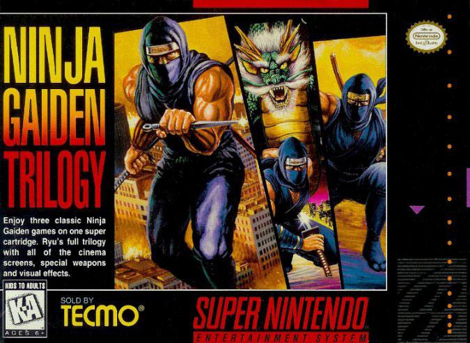 Carátula del juego Ninja Gaiden Trilogy (Snes)