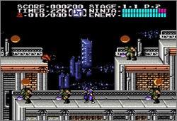 Pantallazo del juego online Ninja Gaiden Trilogy (Snes)