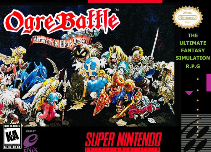 Carátula del juego Ogre Battle - The March of the Black Queen (Snes)