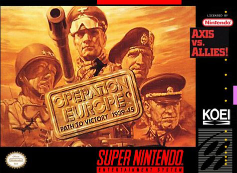 Carátula del juego Operation Europe - Path to Victory 1939-45 (Snes)