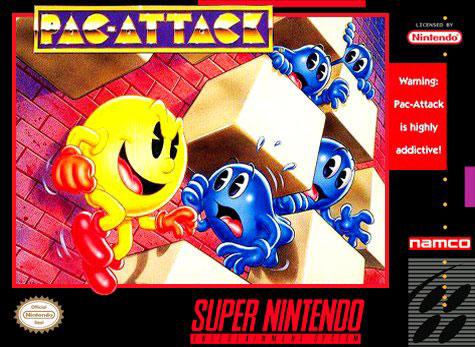 Carátula del juego Pac-Attack (Snes)