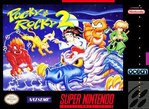 Carátula del juego Pocky & Rocky 2 (Snes)
