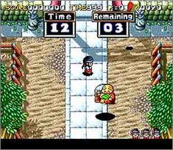 Pantallazo del juego online Pocky & Rocky 2 (Snes)