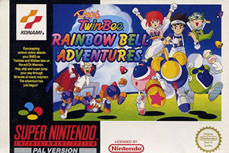 Portada de la descarga de Pop'n TwinBee: Rainbow Bell Adventures
