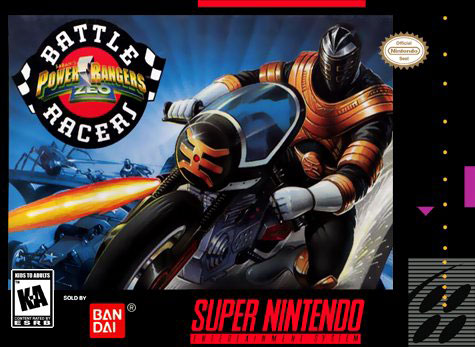 Carátula del juego Power Rangers Zeo Battle Racers (Snes)