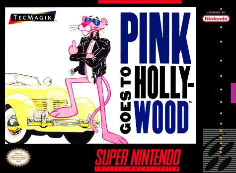 Carátula del juego Pink Goes to Hollywood (Snes)