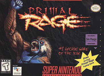 Carátula del juego Primal Rage (Snes)