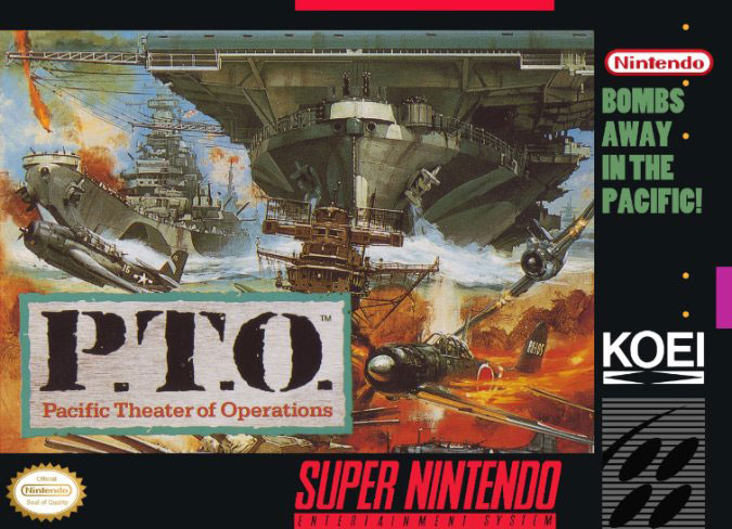 Carátula del juego PTO - Pacific Theater of Operations (Snes)