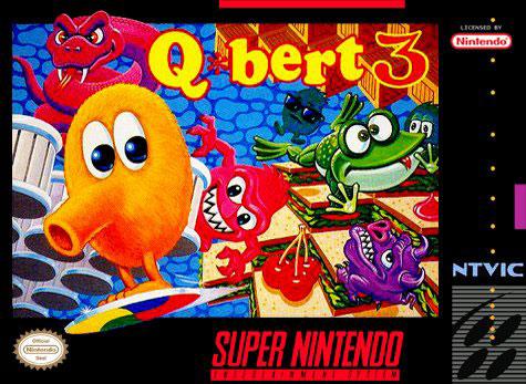 Carátula del juego Q-bert 3 (Snes)