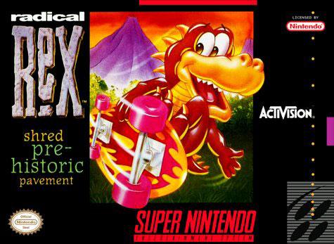 Carátula del juego Radical Rex (Snes)