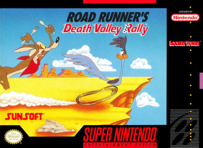 Carátula del juego Road Runner's Death Valley Rally (Snes)