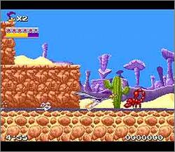 Pantallazo del juego online Road Runner's Death Valley Rally (Snes)