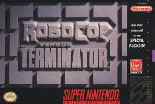 Carátula del juego RoboCop vs The Terminator (Snes)