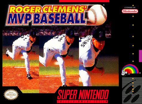 Carátula del juego Roger Clemens' MVP Baseball (Snes)